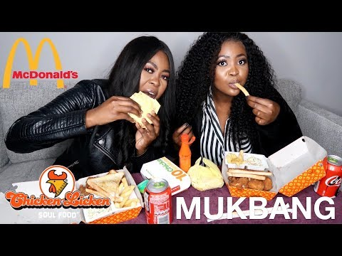 Mcdonald's & Chicken Licken MUKBANG!!! + Story Time | Ft Thandi Gama