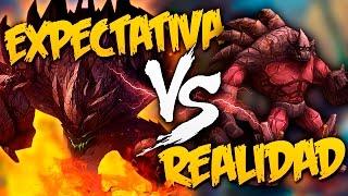 EXPECTATIVA vs REALIDAD en LEAGUE OF LEGENDS