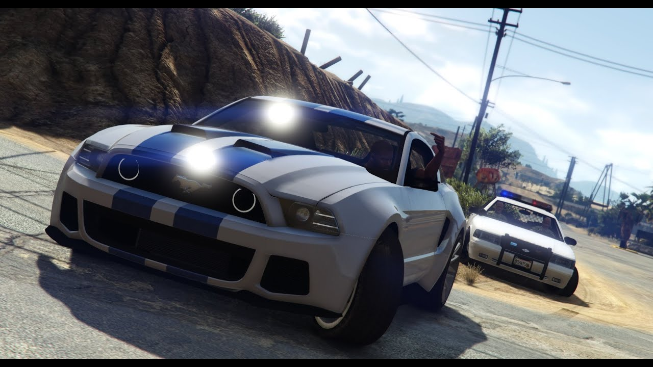 Police Cop Car Live Wallpaper Gta V Nfs Movie Shelby Mustang Police Chase Pc Mod