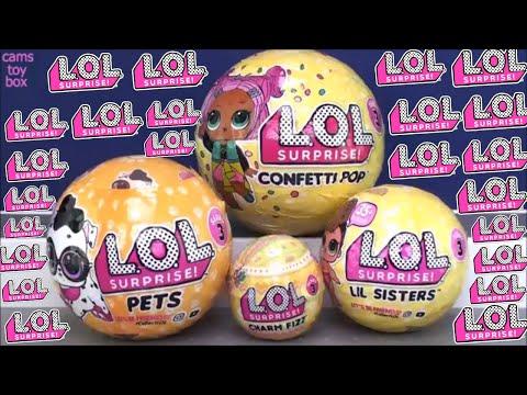 Confetti POP LOL Series 3 Surprise Dolls Pets Lil Sisters Rare Fancy Toy Surprises Unboxing Kids Fun