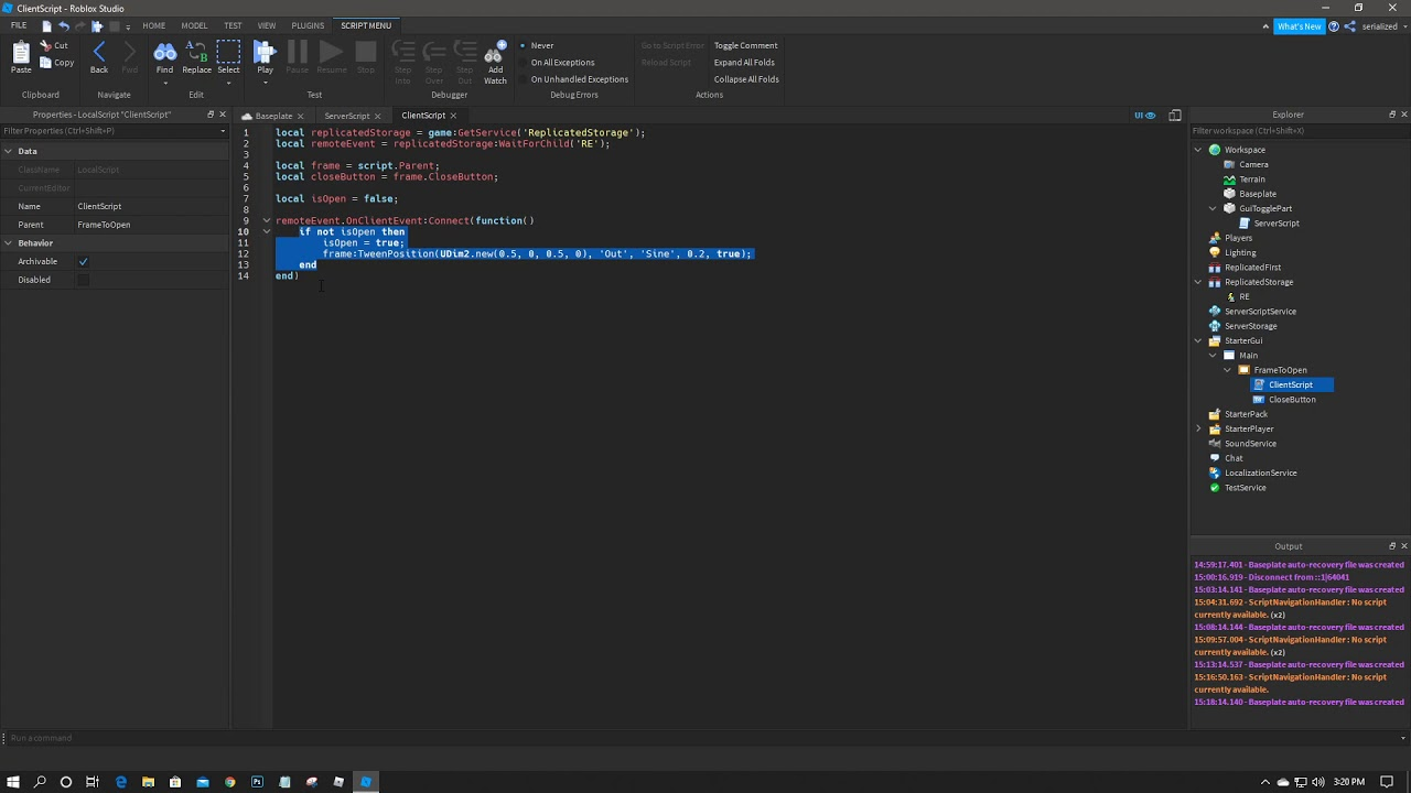 How To Make A Gui Popup On Part Touch In Roblox Scripting