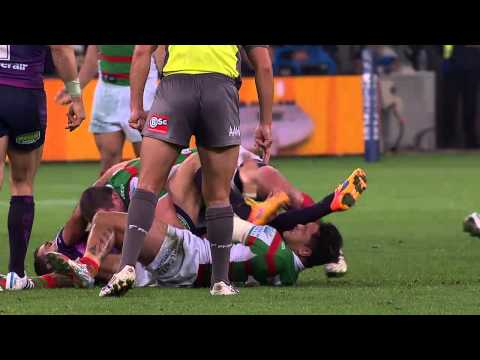 Cameron Smith kicks Issac Luke in face