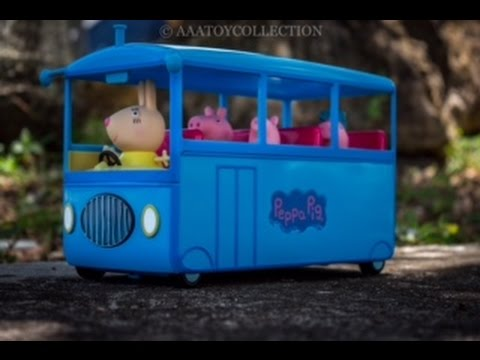 Peppa Pig School Bus Playset Youtube