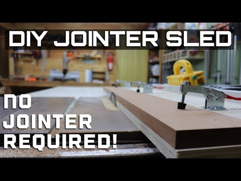 Jointer sled / straight cut jig / table saw sled
