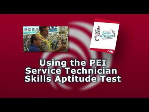 PEI Webinar: Service Technician Aptitude Test