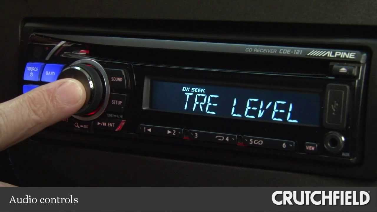 alpine cde 121 cd receiver display and controls demo crutchfield rh youtube com Alpine CDE 7859 Manual Alpine Car Audio Logo