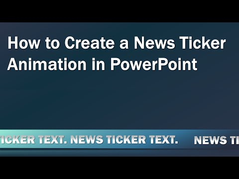 How To Create A Looping News Ticker Animation In PowerPoint