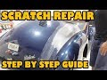 How to fix a scratch in your paint. 1939 model Packard