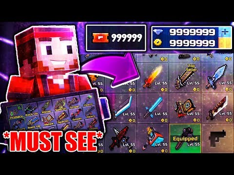 *MUST SEE* Pixel Gun 3D Hack 16.5.1! (Unlimited Gems And Coins, Level 55, All Guns Unlocked!)
