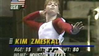 "KIM ZMESKAL - 15 - FLOOR - (FIRST WORLD CHAMPION - ""ALL AROUND"" - USA - 1991) - VOB"