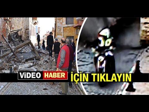 POLİS'İN ENKAZDAN 'MUCİZE' KURTULUŞU...