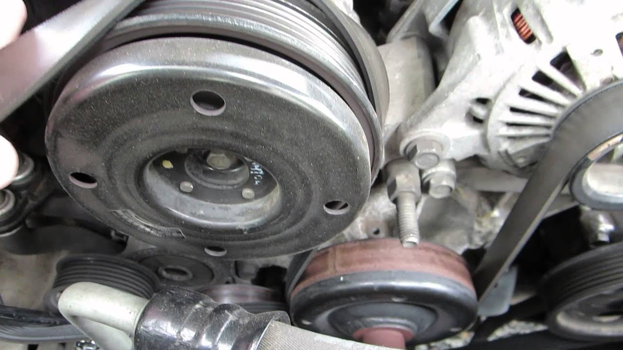 Removing serpentine belt  2001 Jeep Grand Cherokee 47L V8  YouTube