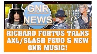guns n roses news richard fortus talks axl rose slash feud new gnr music more