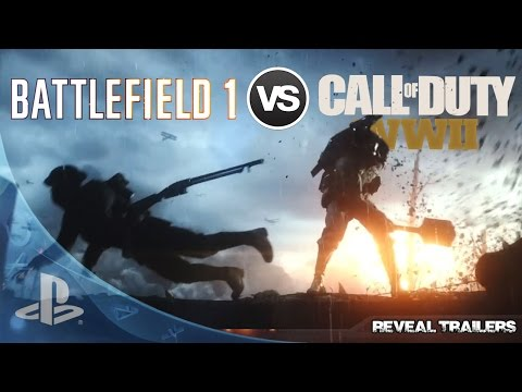 hqdefault battlefield 1 vs call of duty wwii reveal trailers (hd) youtube