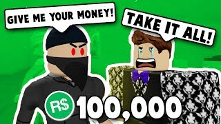 ROBBING STRANGERS in Roblox BLOXBURG! | Roblox Funny Moments | Roblox Roleplay | Roblox Trolling