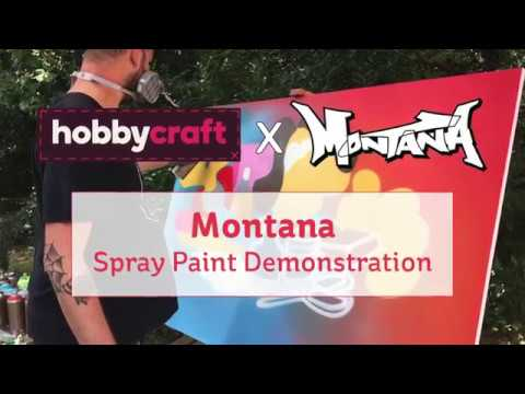 montana gold spray paint demonstration youtube. Black Bedroom Furniture Sets. Home Design Ideas