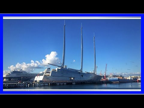 [Breaking News]A russian billionaire's £360 million superyacht 'sailing yacht a' has been spotted d