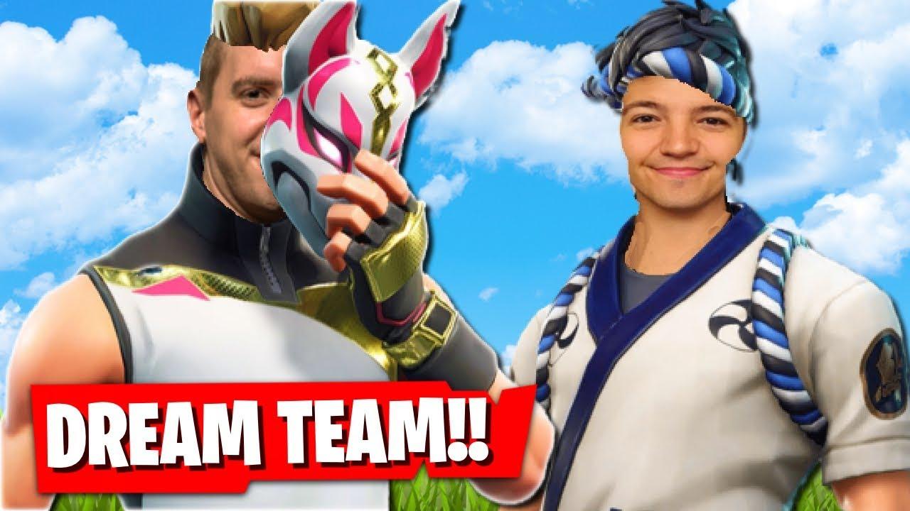 the fortnite dream team w preston fortnite battle royale season 7 - preston fortnite newest video