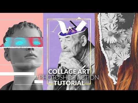 Collage Art Photoshop Action - Tutorial