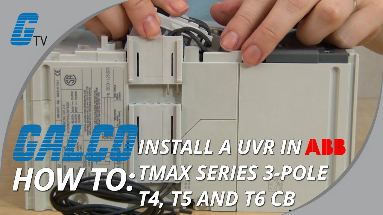 installing a uvr in abb tmax series t4 t5 and t6 molded case rh youtube com Light Switch Wiring Diagram Light Switch Wiring Diagram