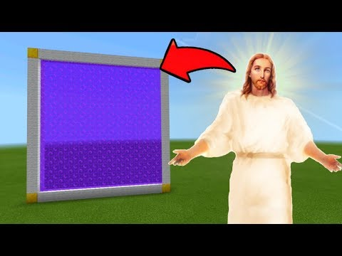 Minecraft Pe How To Make a Portal To The Jesus Dimension - Mcpe Portal To The Jesus!!!