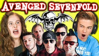 kids react to avenged sevenfold metal band