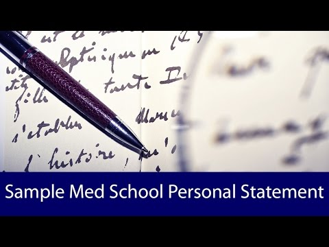 Sample Medical School Personal Statement - BeMo Academic Consulting