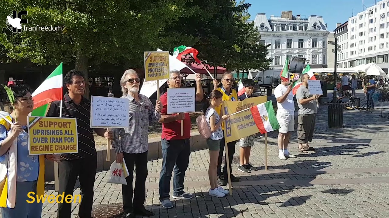 freeiran: Protests in Sweden and Germany