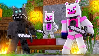 Twisted Wolf and Helpy Are Masters of Bed War! Minecraft FNAF Roleplay