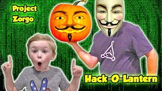 Gambar cover Project Zorgo Hacker Hacks our Pumpkin with a Top Secret Spy Gadget - We Need a Safe House