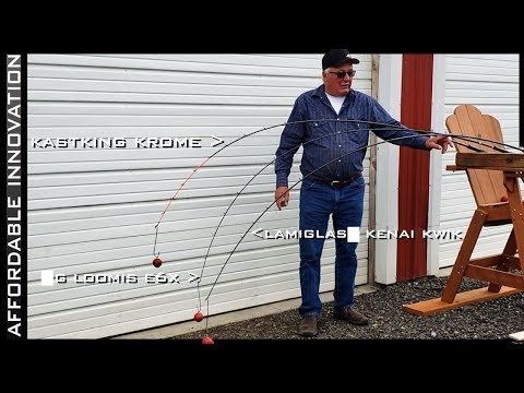 Professional Guide Compares KastKing Krome Fishing Rods To G Loomis E6X And Lamiglas Kenai Kwik