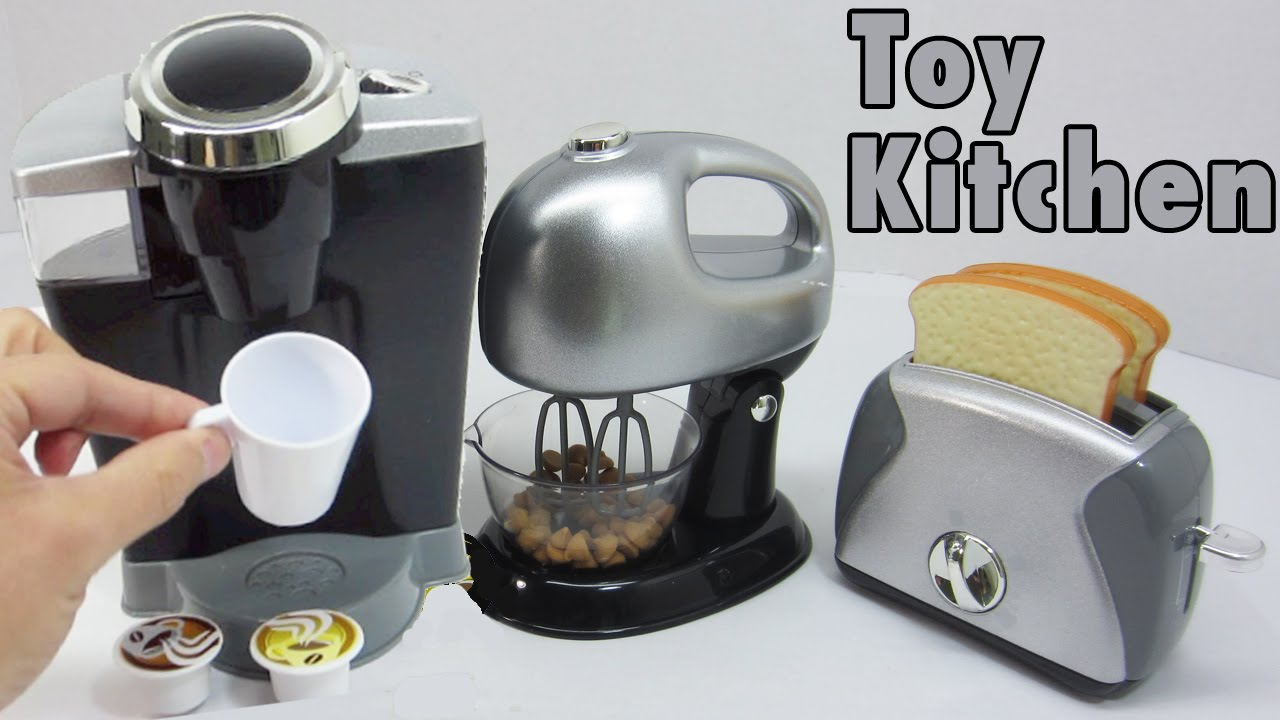 Toy Kitchen Playset For Children Kids Gourmet Kitchen Appliances Konapun Youtube