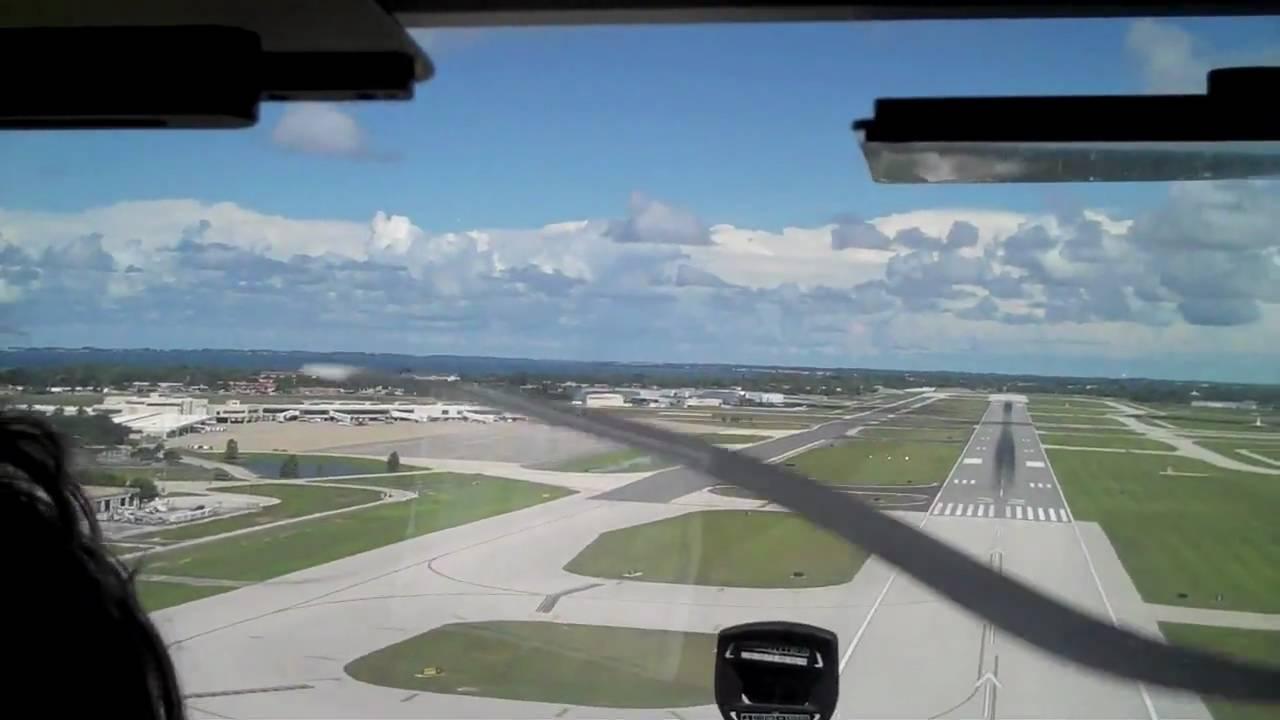 Cessna 172 Landing At Sarasota Bradenton Intl Airport