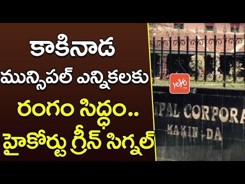 High Court Green Signal To Kakinada Municipal Corporation Elections |  YOYO TV CHANNEL