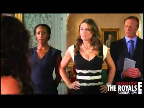 Elizabeth Hurley Strips Down To Her Underwear As Her Raunchy Drama The Royals Debuts In The Us