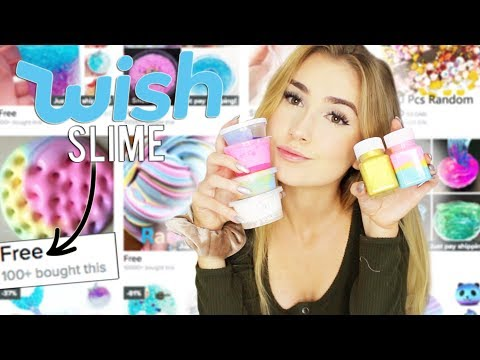 TRYING SLIME FROM WISH.COM ... also attempting asmr