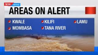 Areas likely to experience floods as seen by the Kenya Meteorological Department