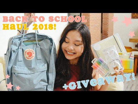 Back to School Supplies Haul 2018 +GIVEAWAY! ♡ Sugar Dc
