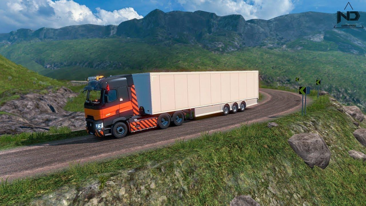 ETS2 – Lái Xe Container Đi Đường Đèo Dốc Quanh Co