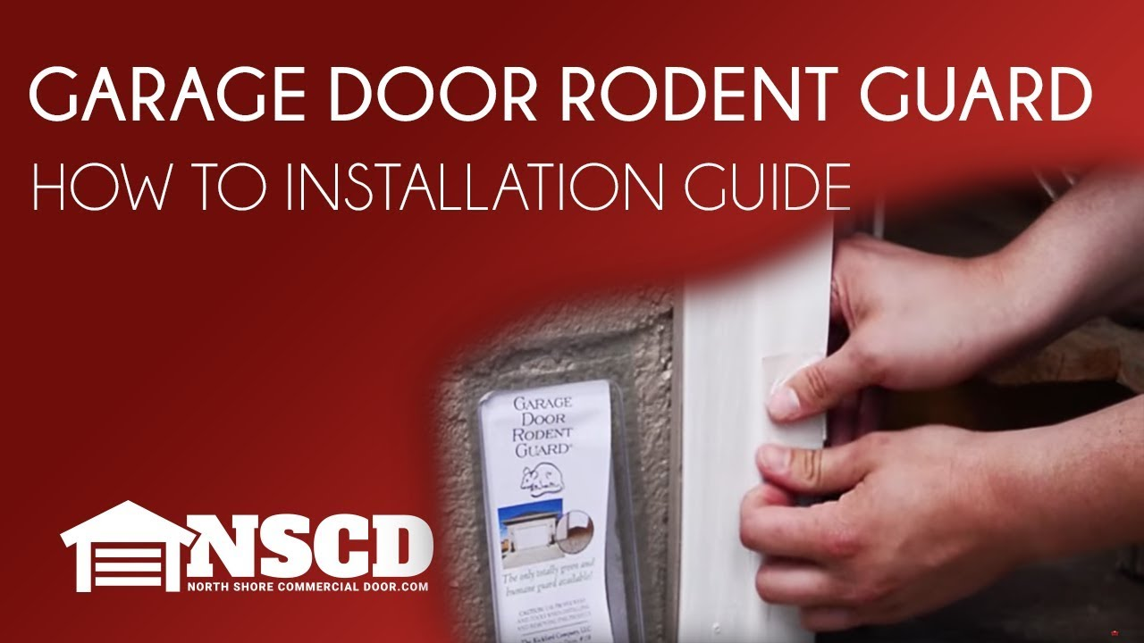 North Shore Commercial Door How To Garage Door Rodent Guard Youtube