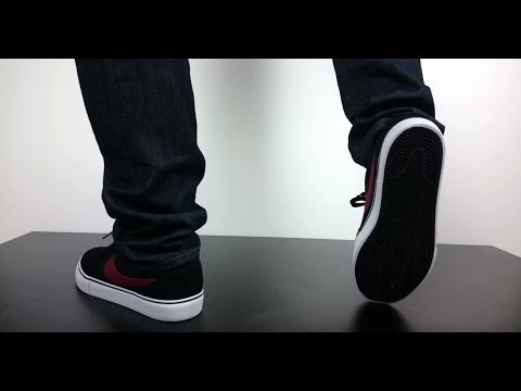 Renacimiento violinista Inaccesible  NIKE SB SATIRE II black team red 729809 062 - YouTube