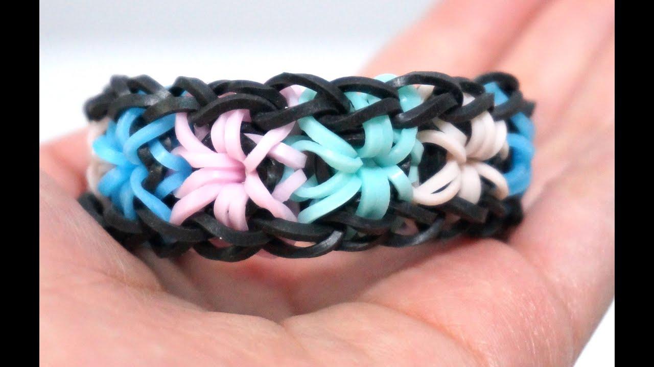 Rainbow Loom Starburst Bracelet With 2 Forks No Hook