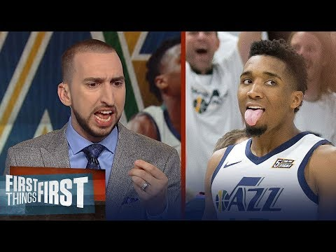 Nick Wright on how Jazz' Donovan Mitchell just joined Michael Jordan and Kareem | FIRST THINGS FIRST