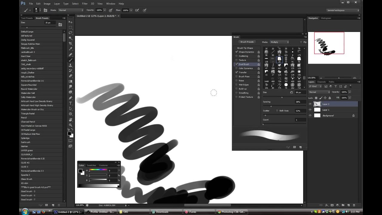 how to change opacity in photoshop cs6