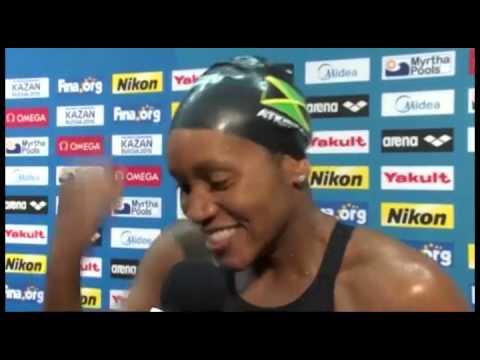 Jamaica's Alia Atkinson - First Black Female World Swimming Champion
