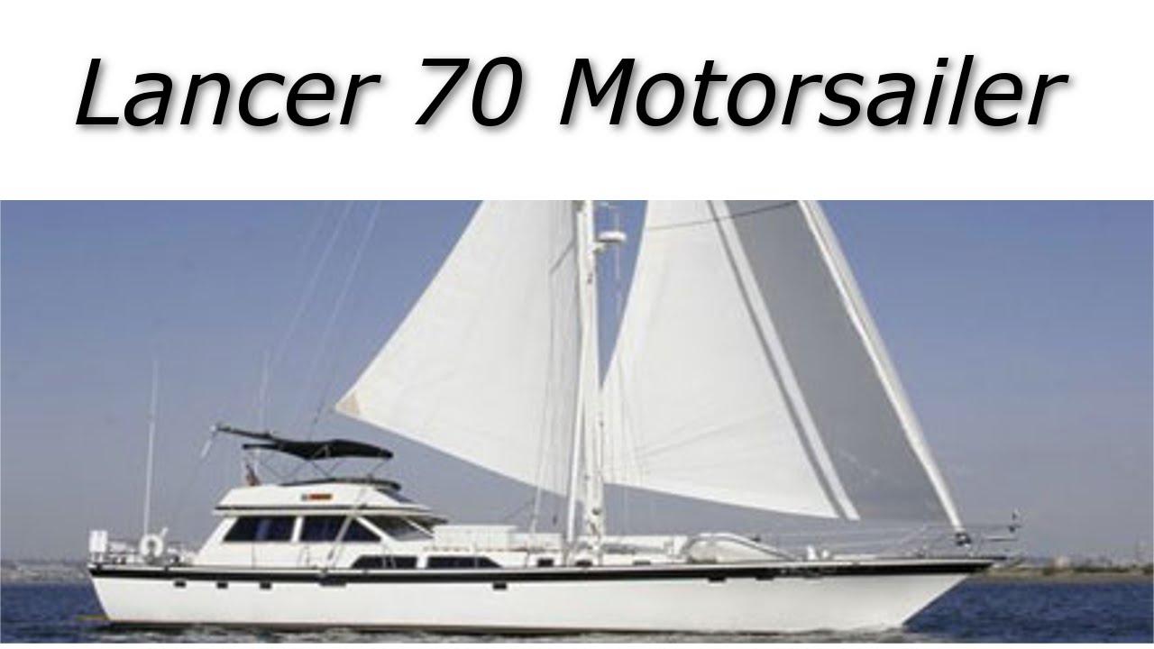 Lancer 70 Motorsailer Yacht For Sale: Walkthrough