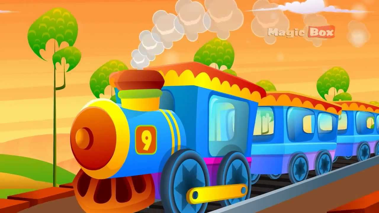 engine number nine english nursery rhymes cartoon and animated