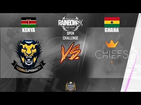 PAGU LiVE | Open Challenge 2018 -  Rainbow Six Siege KENYA VS GHANA Friendly