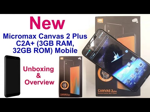 pretty nice 91d54 42a05 Micromax Canvas 2plus C2A+ (Black, 3GB RAM + 32GB Memory) Unboxing ...