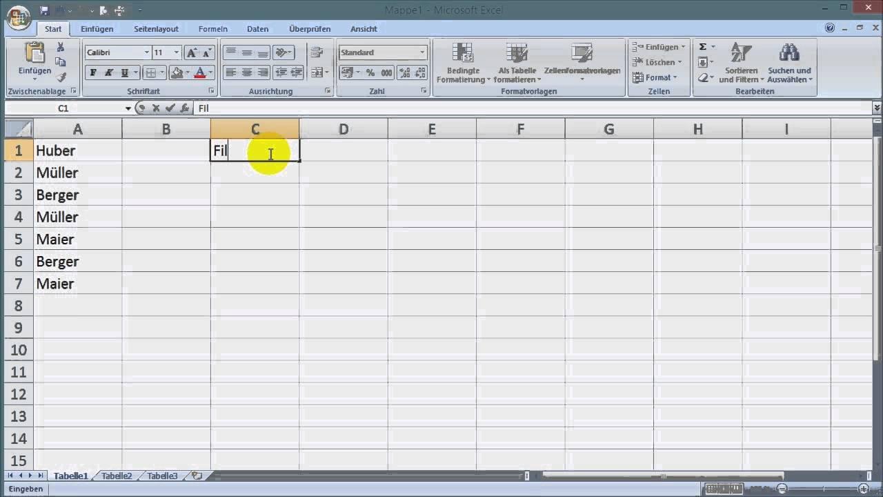 Excel Auswahlliste